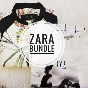 Zara Bomber Jacket + Printed Blouse
